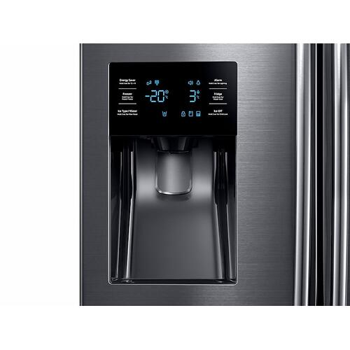 25 cu. ft. French Door Refrigerator with External Water & Ice Dispenser in Black Stainless Steel