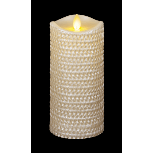 Carved Pearlized Wax Pillar