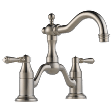 Bridge Lavatory Faucet With Lever Handles