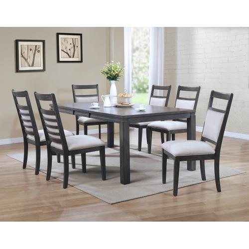 Upholstered Slat Back Dining Chair - Shades of Gray (Set of 2)