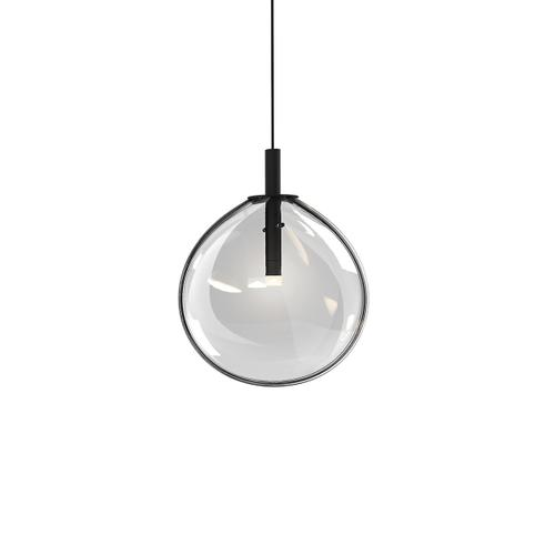 Sonneman - A Way of Light - Cantina LED Pendant [Size=Small, Color/Finish=Satin Black w/Clear Glass]