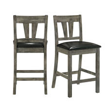 Nathan Counter Side Chair w/PU Seat & Fan Back Slat (2 Per Pack)