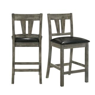 See Details - Nathan Counter Side Chair w/PU Seat & Fan Back Slat (2 Per Pack)