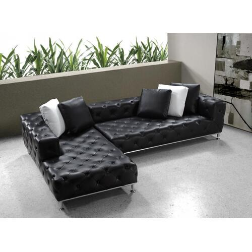 Divani Casa Jazz - Modern Tufted Leather Sectional Sofa