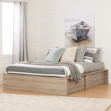 Step One - Ottoman storage bed, Rustic Oak embossed, Queen