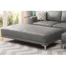 Grant XL Cocktail Ottoman, Antique-grey-leatherette