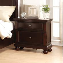 See Details - Brishland Rustic Cherry 2 Drawers Bedroom Nightstand