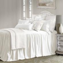 See Details - Luna Bedspread Set W/ Drop Skirt, White - Full