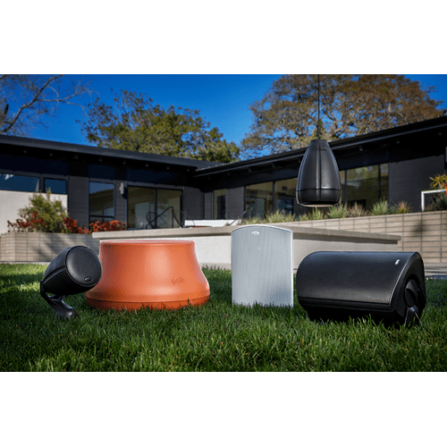 Atrium Weatherproof Outdoor Loudspeaker and Subwoofer System in Terracotta/Chestnut