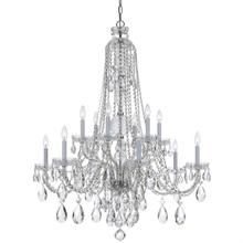 Traditional Crystal 12 Light C lear Swarovski Strass Crystal Chrome Chandelier