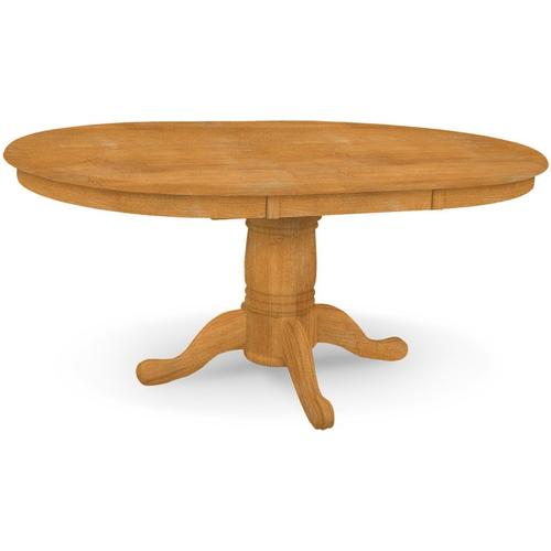 Butterfly Leaf Pedestal Table (top only) / 10'' Round Pedestal