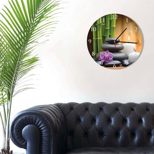 Grako Design - Spa Stones Round Square Acrylic Wall Clock