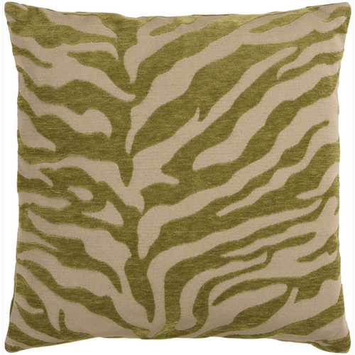 "Velvet Zebra JS-029 22"" x 22"" Pillow Shell with Polyester Insert"