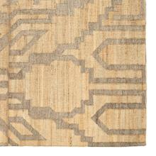 Riona II 120 x 96 Tan Jute Wool and Viscose Patterned Rug