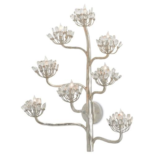 Agave Americana Silver Wall Sconce
