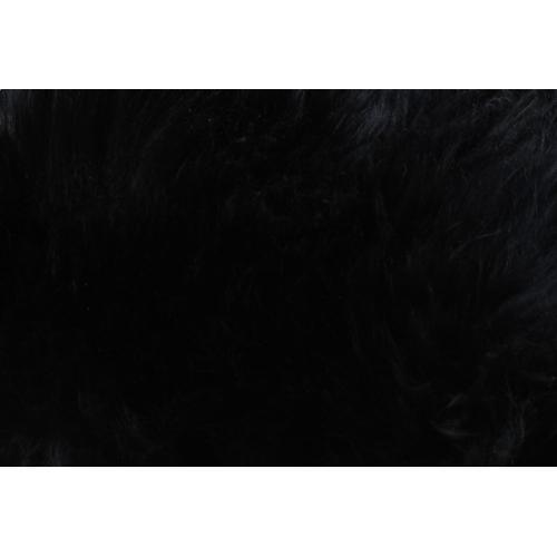 Tov Furniture - Luxe Black Sheepskin Lucite Bench