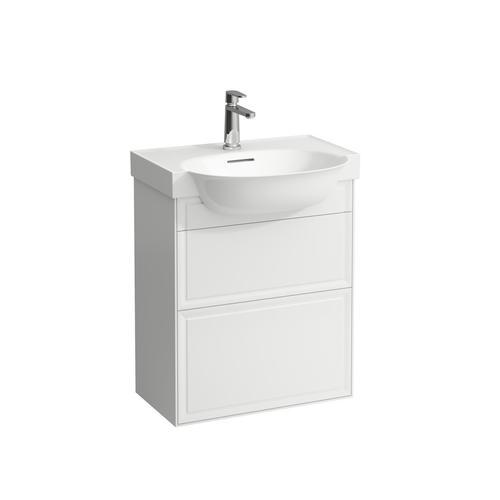 White Matte Vanity unit, 2 drawers, matches vanity washbasin 813853