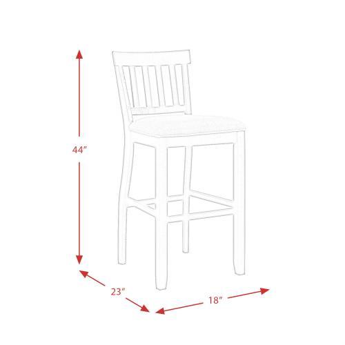 """Product Image - Stone 30"""" Slat Back Bar Stool Set"""