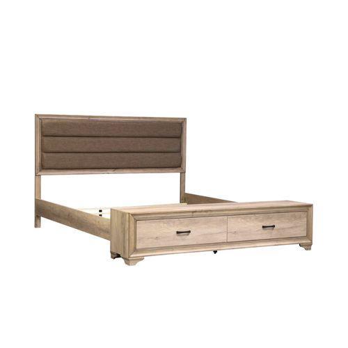 Liberty Furniture Industries - King Storage Bed, Dresser & Mirror, Chest, Night Stand