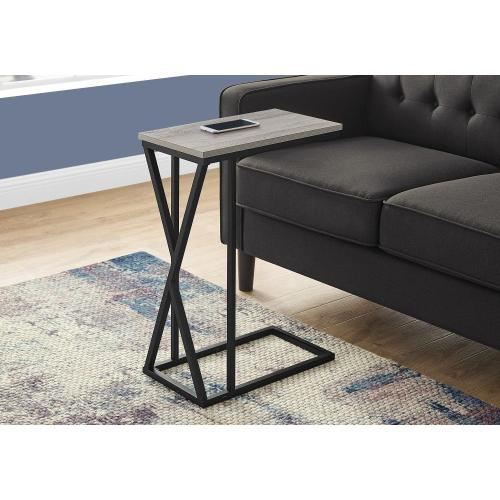 "ACCENT TABLE - 25""H / GREY / BLACK METAL"