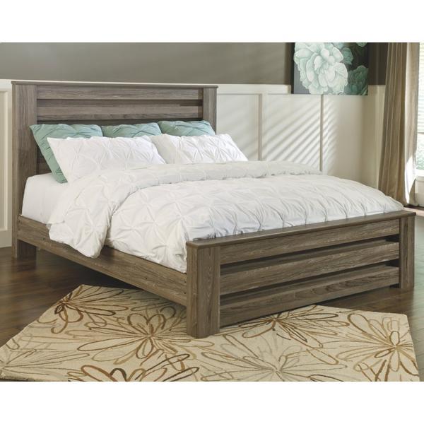 Zelen King Panel Bed