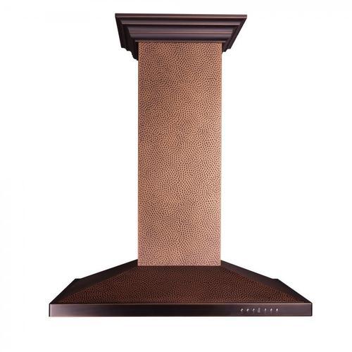 Zline Kitchen and Bath - ZLINE Designer Series Hand Hammered Copper Island Mount Range Hood (8GL2Hi) [Size: 36 Inch]