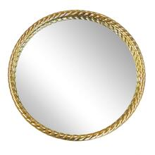"Metal 28"" Rope Mirror, Gold Wb"