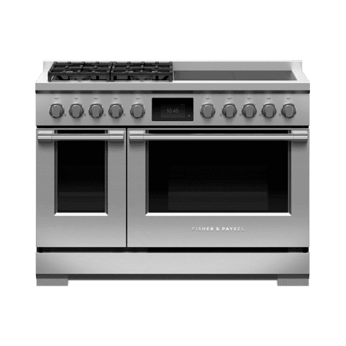 "Dual Fuel Range, 48"", 4 Burners, 4 Induction Zones, Self-cleaning"