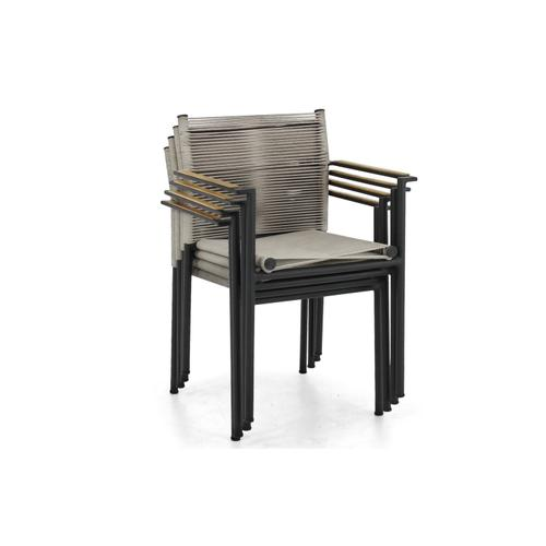 JAKARTA Stackable Dining Arm Chair w/ cushion - Grey