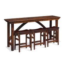 "B&O Railroade Console Bar Table, 72"""