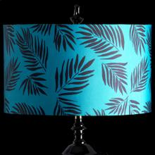 TEAL PALM MIXOLOGY SHADE  LARGE  11in X 19in  Available in three sizes this lighting collection