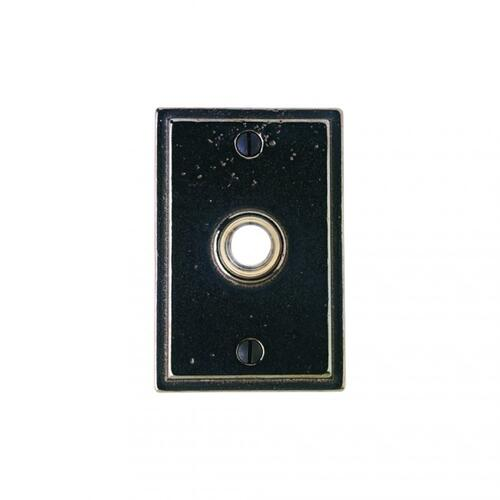 Stepped Doorbell Button White Bronze Medium