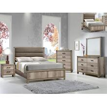 Matteo King Bedroom Set: King Bed, Nightstand, Dresser & Mirror
