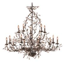 See Details - Circeo 15-Light Chandelier in Deep Rust with Crystal