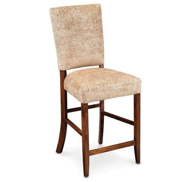 """See Details - Karrige Stationary Barstool, 30"""" Seat Height / Fabric Cushion Seat"""