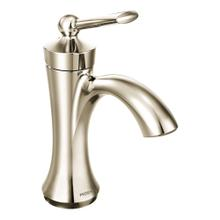 View Product - Wynford Polished nickel one-handle high arc bathroom faucet