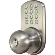 Touchpad Electronic Doorknob (Satin Nickel)