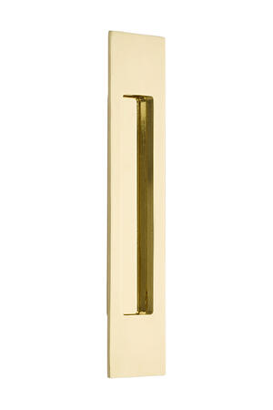 "Flush Pull - Modern Rectangular Brass 10"" Product Image"