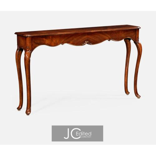 Console table in antique mahogany