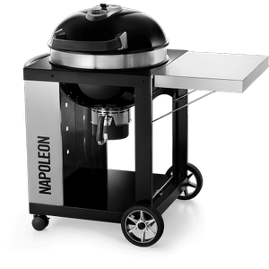 """Napoleon BBQ22"""" PRO CART Charcoal Kettle Grill , Black , Charcoal"""