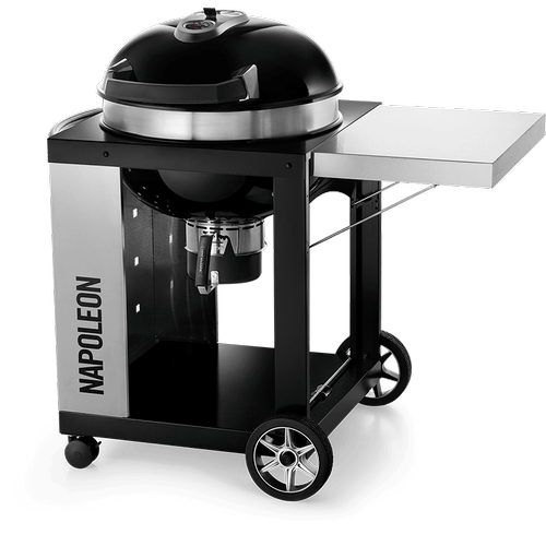 """Napoleon BBQ - 22"""" PRO CART Charcoal Kettle Grill , Black , Charcoal"""