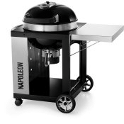 "22"" PRO CART Charcoal Kettle Grill , Black , Charcoal"