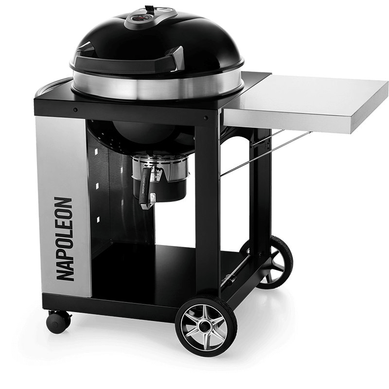 """22"""" PRO CART Charcoal Kettle Grill , Black , Charcoal"""