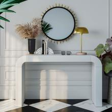 See Details - Hump White Console Table