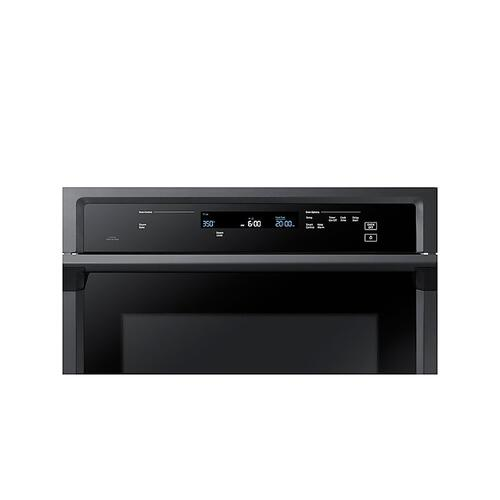 "30"" Smart Single Wall Oven with Steam Cook in Black Stainless Steel"