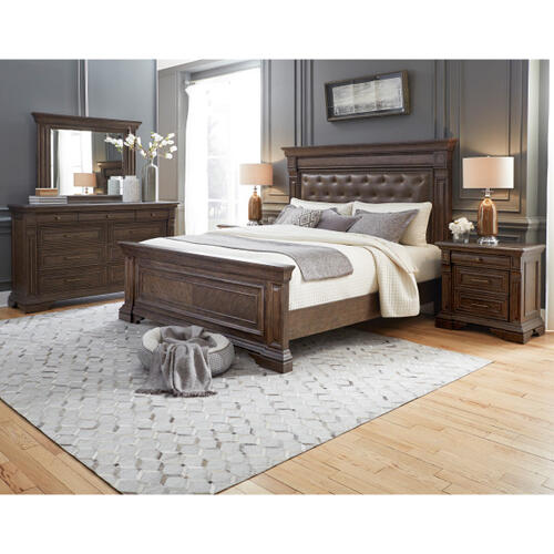 Bedford Heights King / Queen Panel Bed Side Rails in Estate Brown