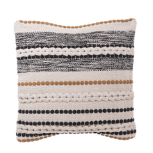 See Details - Bobble & Braid Striped Pillow
