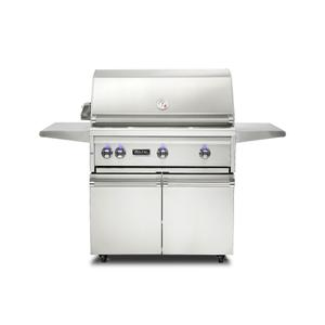 "Viking36""W. Freestanding Grill with ProSear Burner and Rotisserie - VQGFS5361"