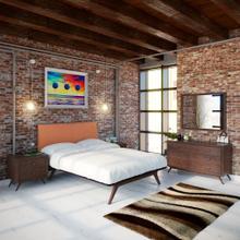 See Details - Tracy 5 Piece Queen Bedroom Set in Cappuccino Orange