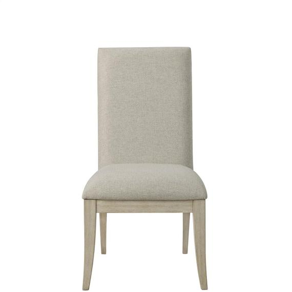 Riverside - Lilly - Upholstered Side Chair - Champagne Finish